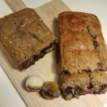 Bananen brood met pure chocolade en Walnoten