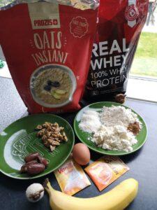 een foto van de Ingrediënten van de dadel pancake