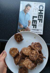 foto van cover boek en de pancakes