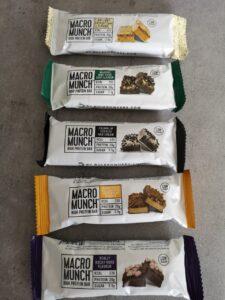 foto van macro munch repen vanaf bovenkant
