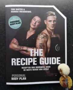 het boek the recipe guide vanaf de bovenkant