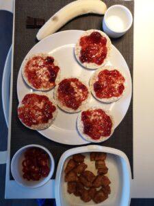 Op deze foto zie je een maaltijd die ik voor mijn shoot mocht eten.