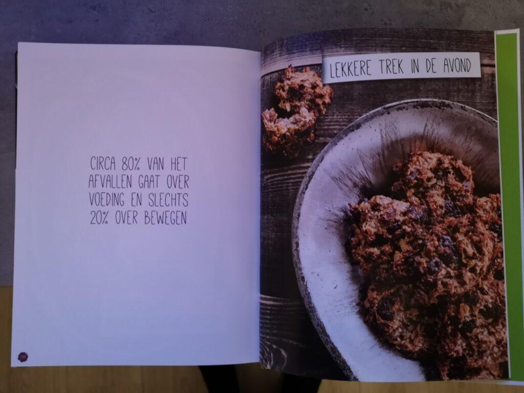 Op deze foto zie een pagina lekkere trek in de avond uit het boek afslank receptenbijbel