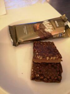 Op deze foto zie je de smaak Fudge Brownie van de melty bar