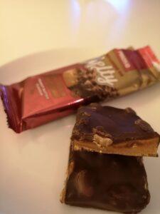 Op deze foto zie je de smaak peanut butter van de melty bar