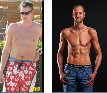 Hier zie je een foto van mijn eigen transformatie