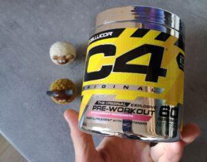 Op deze foto zie je het potje van C4 Original Pre-workout