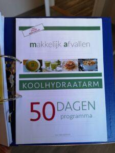 Op deze foto zie je de voorkant van het Koolhydraatarm 50 dagen programma