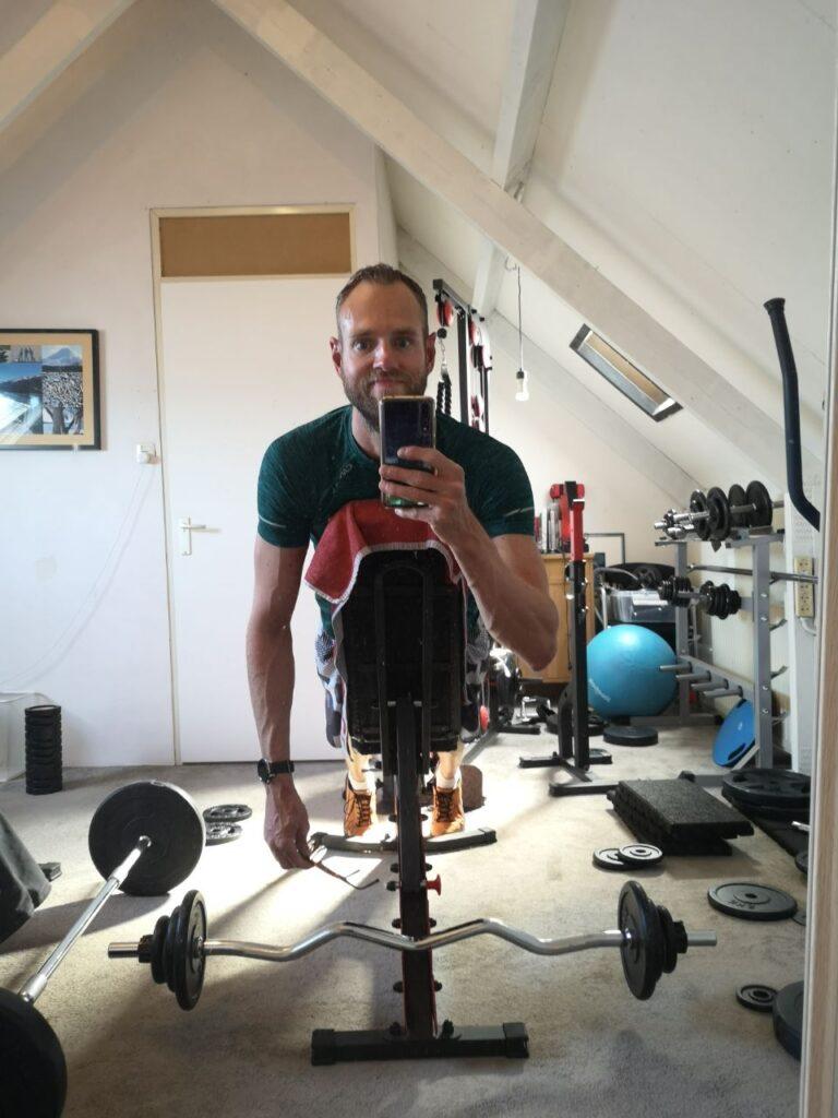 Op deze foto sta ik tijdens het trainen tijdens het cutten/droog trainen