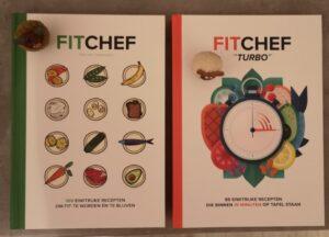Op deze foto zie je de 2 boeken van fitchef