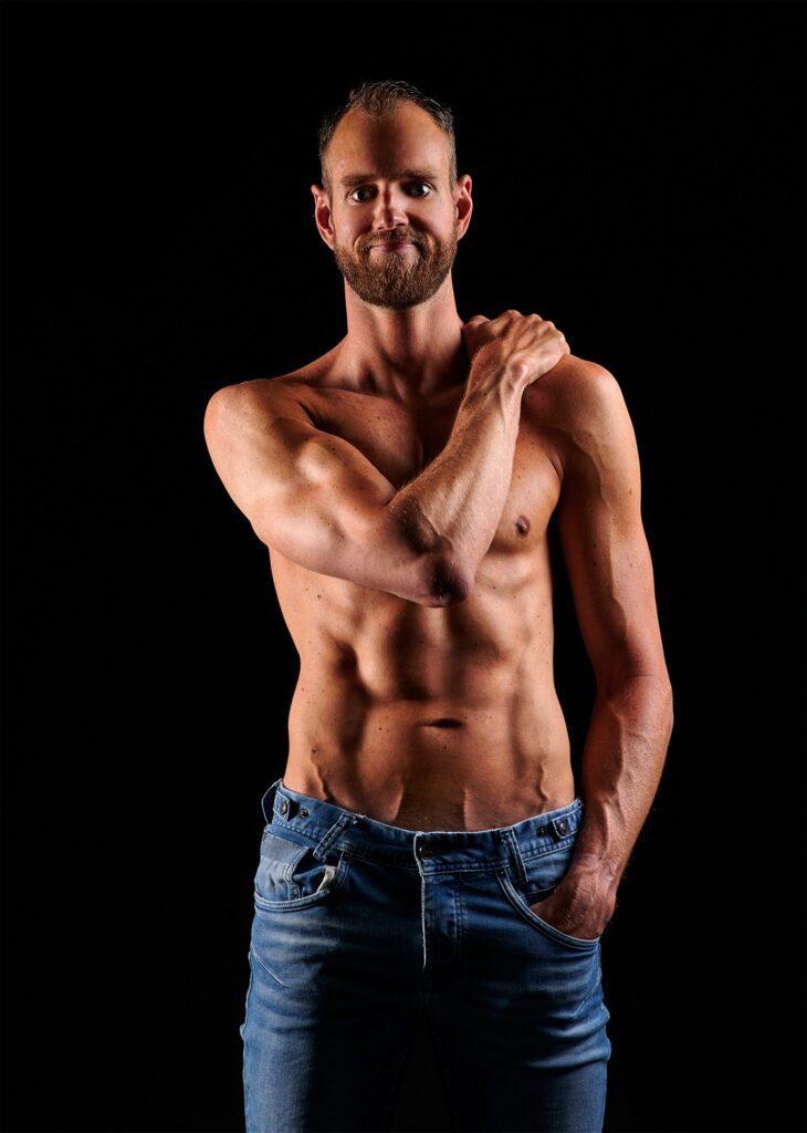 Op deze foto zie je het resultaat van mijn Fitness fotoshoot
