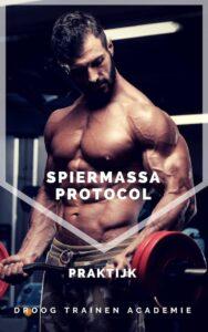 Hier zie je het praktijkboek van het Spiermassa Protocol Mannen