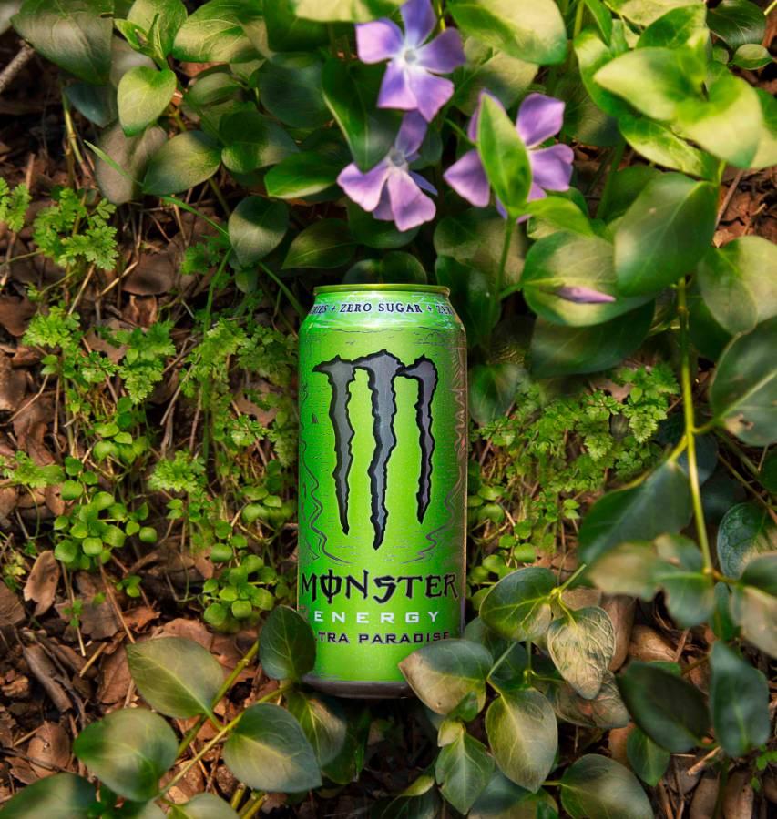 Op deze foto zie je de smaak Monster Energy Paradise
