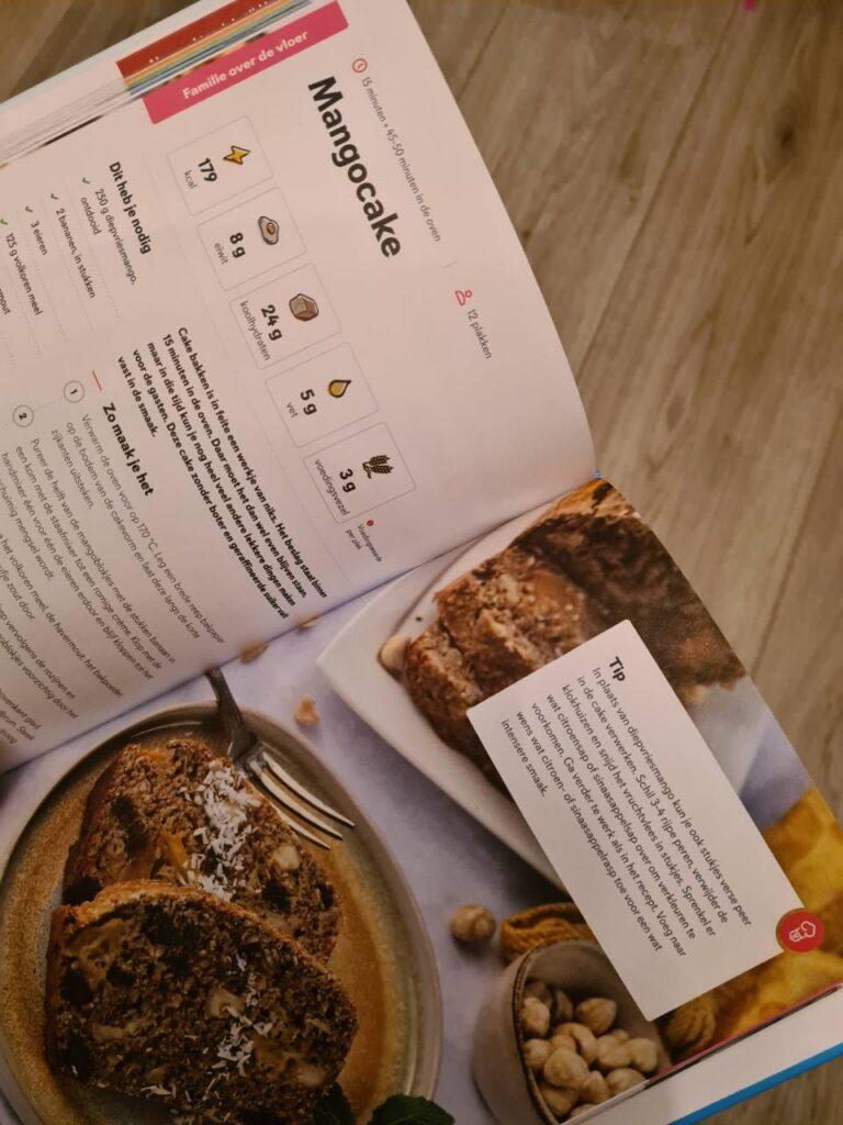 Op deze foto zie je een voorbeeld van een recept uit het boek fitchef family