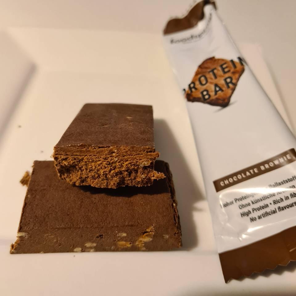 Op deze foto zie je de Protein Bar smaak Chocolade Brownie
