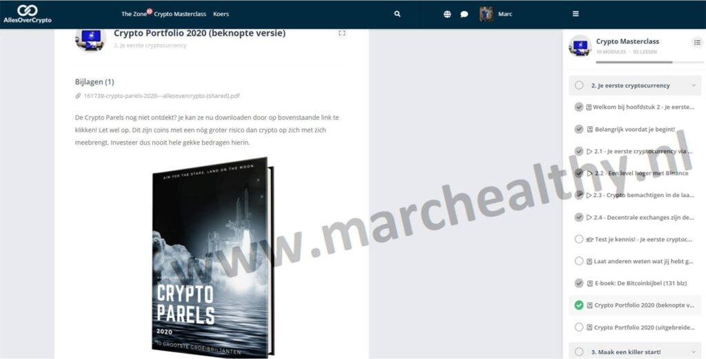 Op deze foto zie je Module 2: Je eerste Cryptocurrency van de crypto masterclass